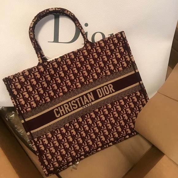 8067f93ce Bags | Dior Book Tote | Poshmark